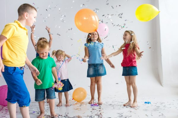 Balloon burst party game for kids