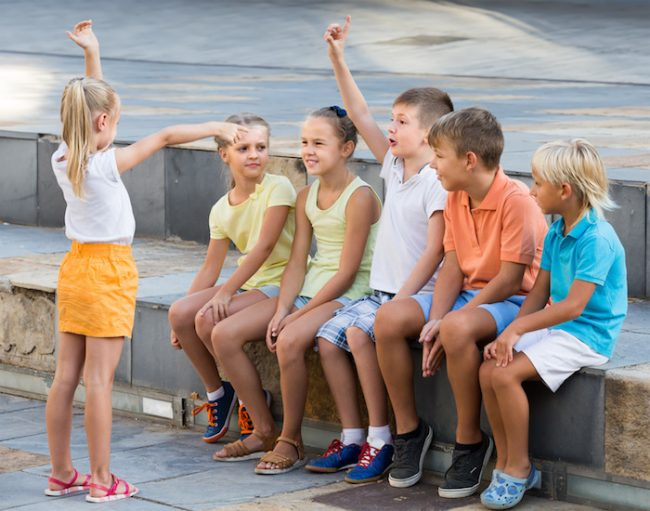 The verbs charade game: fun kids activity