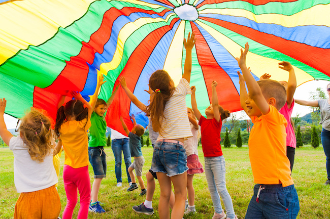 Parachute games and activities